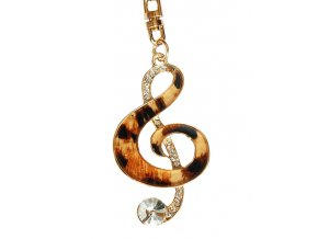 Přívěsky na klíče a kabelky houslový klíč 01