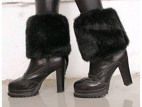 Návleky na boty kožešinové černé 2