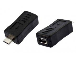 Redukce hranatá rovná miniUSB micro USB