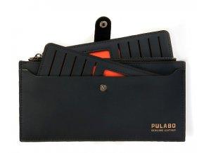 Peněženka PULABO černá oranžová 02