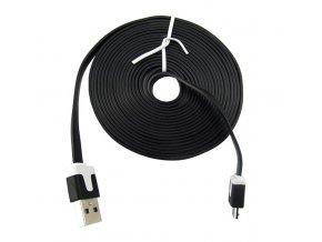 3m micro USB kabek plochý černý 01