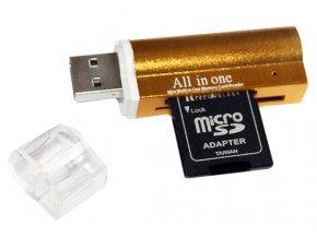 USB čtečka karet zlatá 02