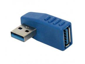 úhlová redukce USB 3 0 na USB kabel modrá 01