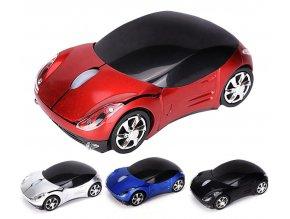 Bezdrátová myš 1600DPI autíčko