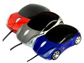 Počítačová myš s USB kabelem autíčko